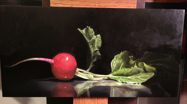 Painting of a radish by Erik Henry Johnson